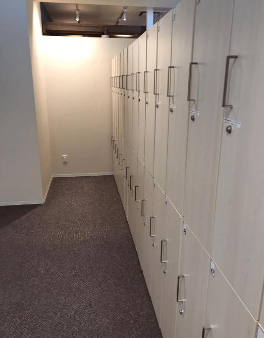 サーフフィットのロッカールーム
