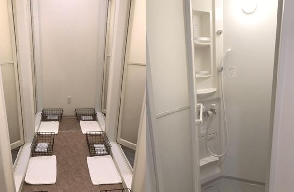 サーフフィット銀座店のシャワー室